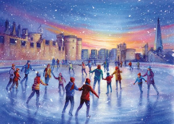 Skaters at the Tower of London