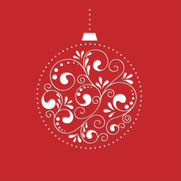 bauble decore bright red