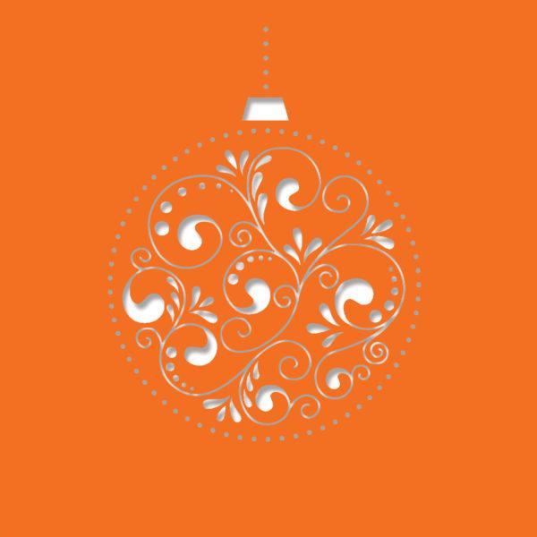 bauble decore deep orange 1