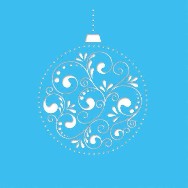 bauble decore light blue