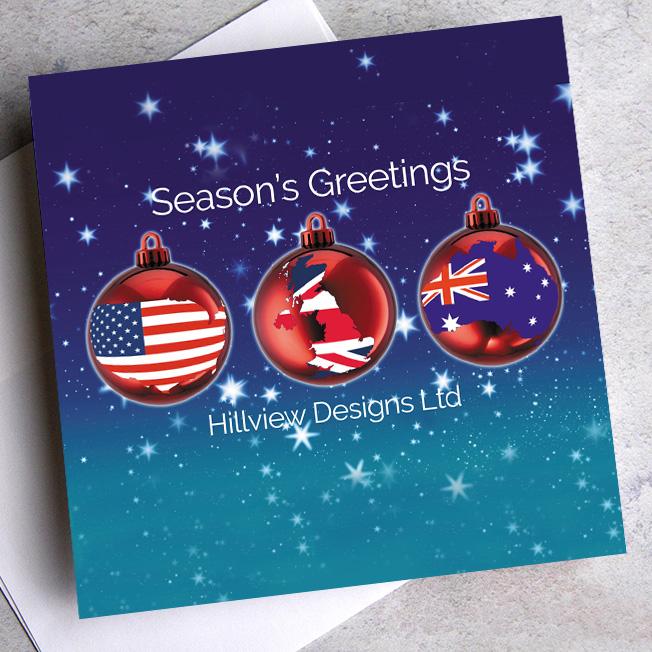 bespoke corporate christmas cards