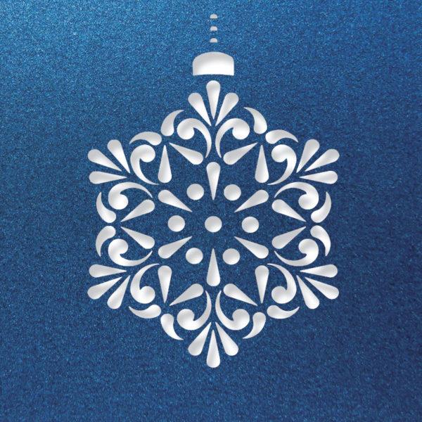 contemprary snowflake lapis