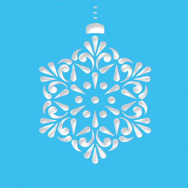 contemprary snowflake light