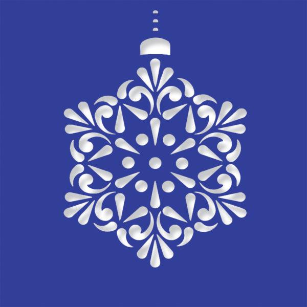 contemprary snowflake midni