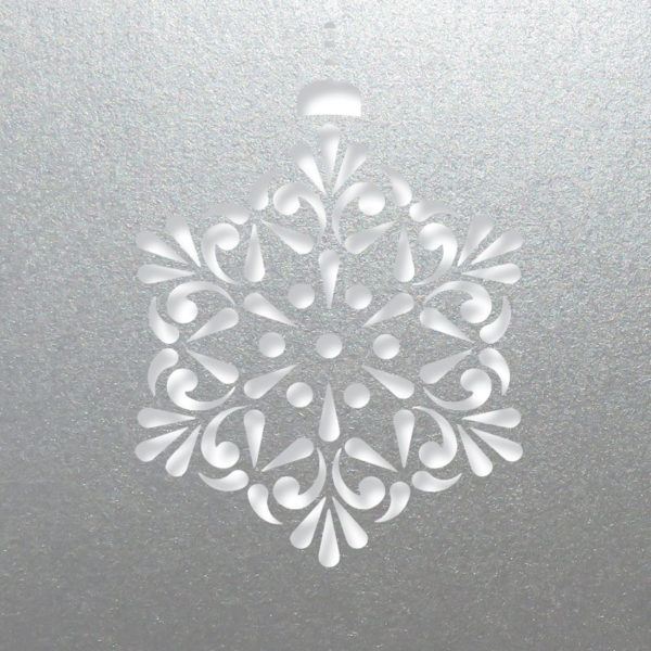 contemprary snowflake silve