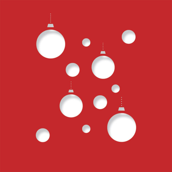 disco baubles bright red