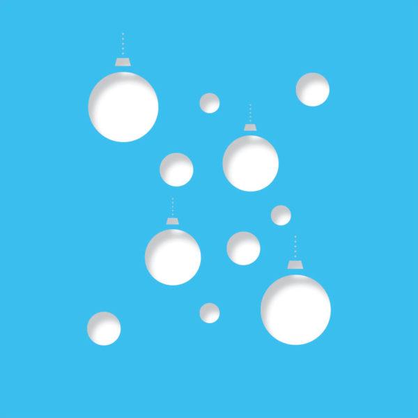 disco baubles light blue