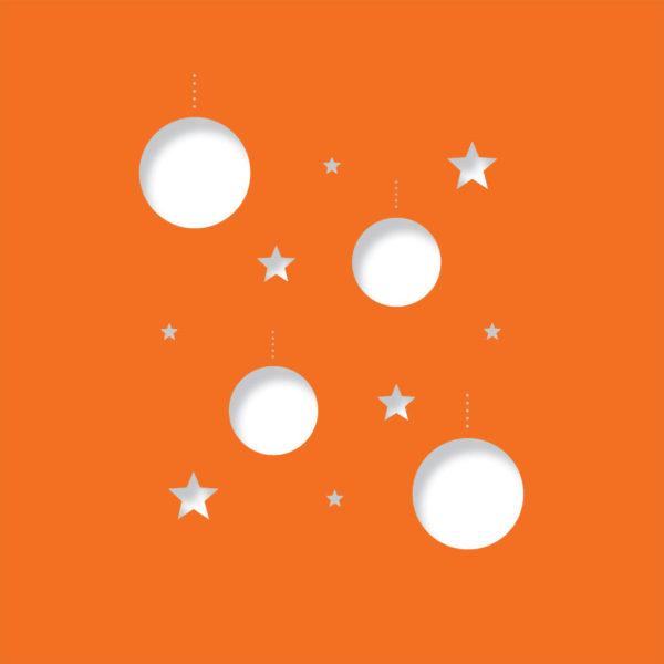disco stars deep orange
