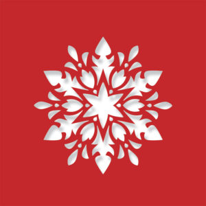 floral snowflake bright red