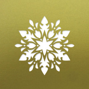 floral snowflake fine gold