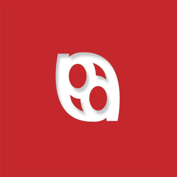 laser logo bright red