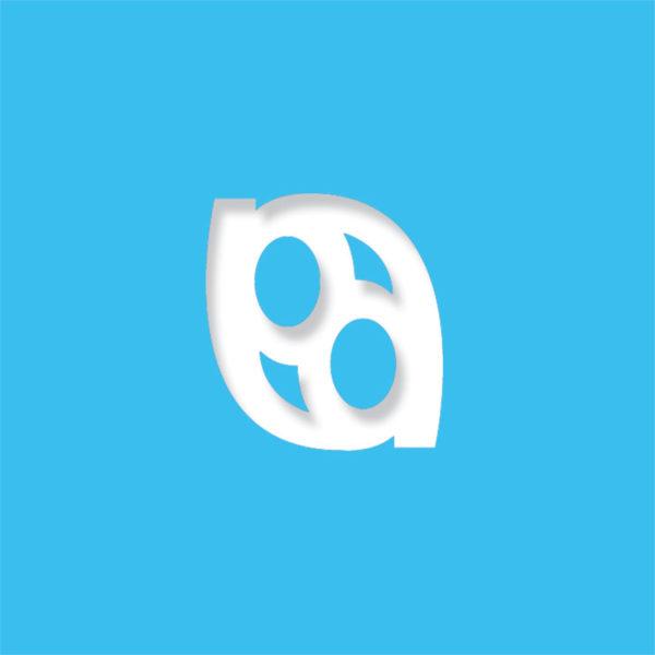 laser logo light blue