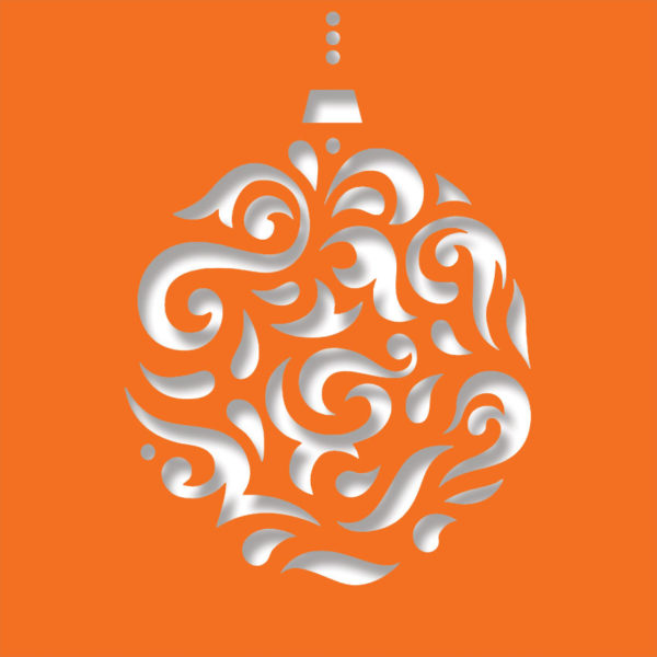 magi bauble deep orange