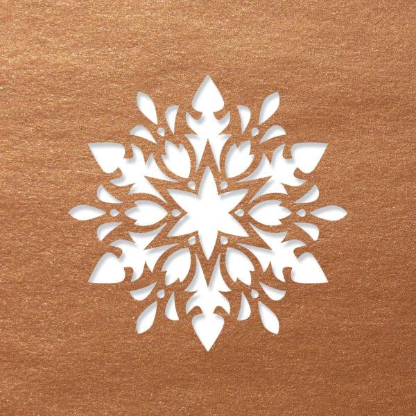 modern snowflake copper