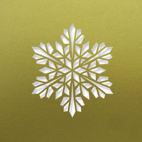 modern snowflake fine gold