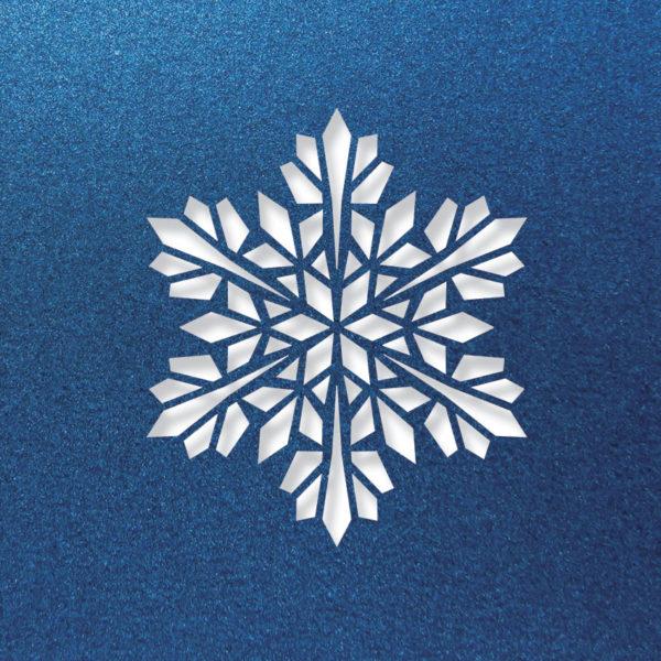 modern snowflake lapislazul