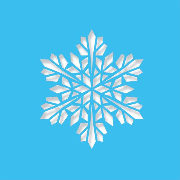 modern snowflake light blue