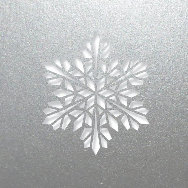 modern snowflake silver