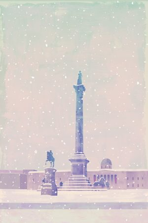 snow at trafalgar sq 1