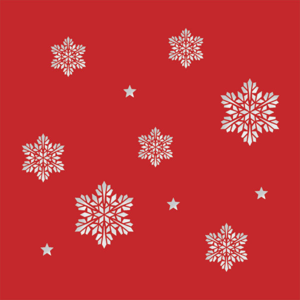 snowflake stars bright red
