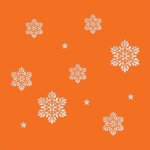 snowflake stars deep orange