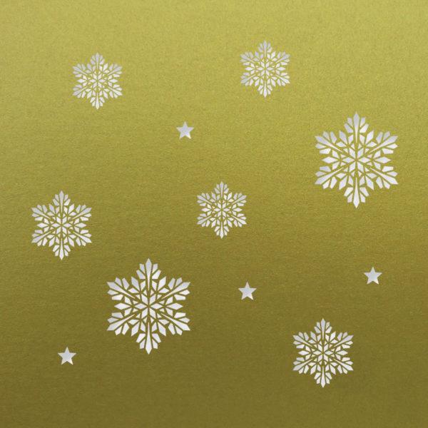 snowflake stars fine gold