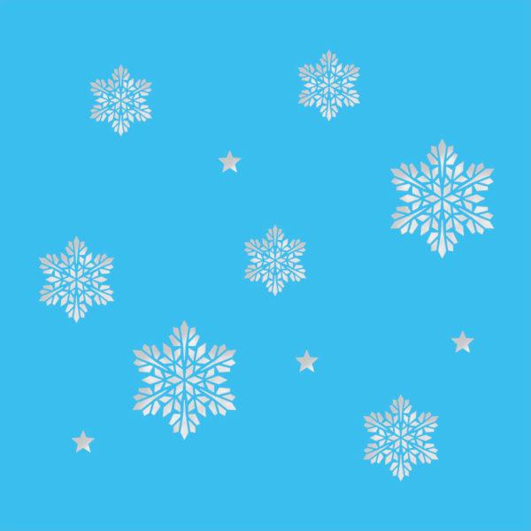 snowflake stars light blue