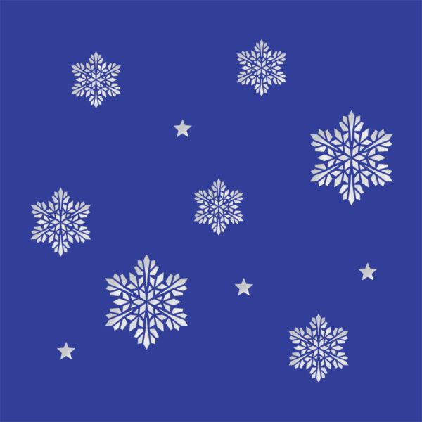 snowflake stars midnight