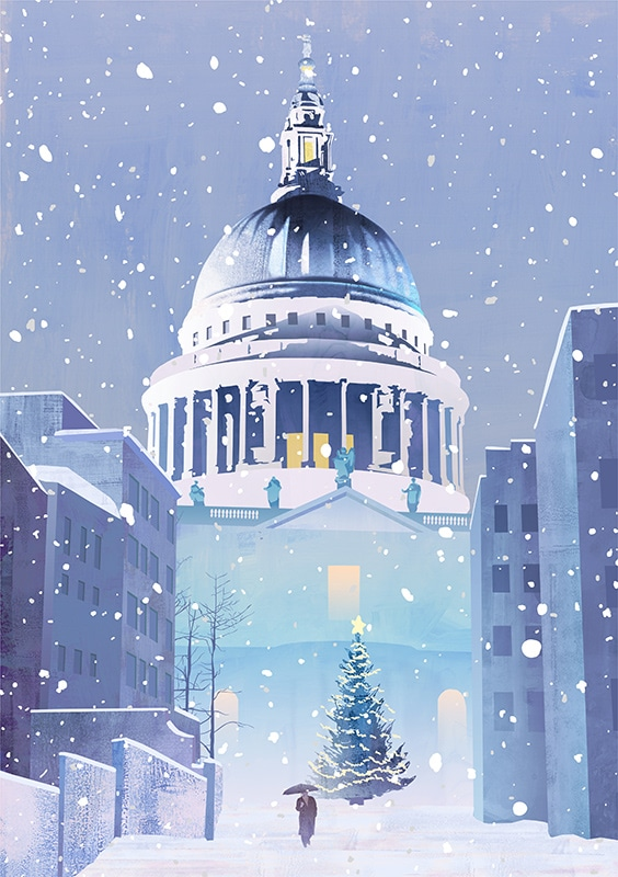 st pauls in the snow 1